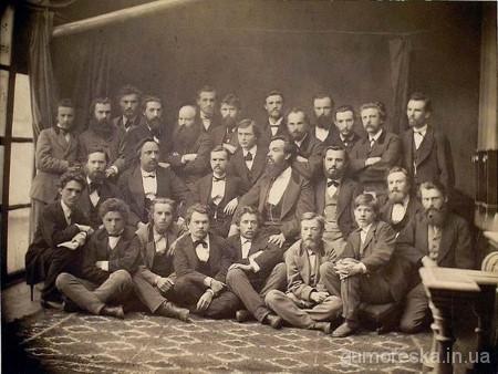 Іван Нечуй-Левицький з учасниками «Київської громади», 1873 р